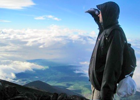 Simon on Mt Fuji